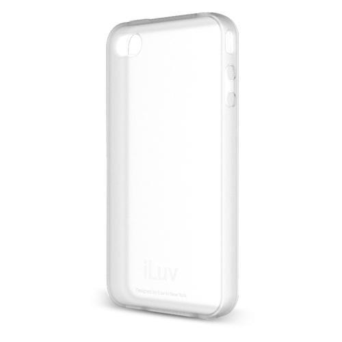 iLuv Gelato Flexi Gel Schutzhülle aus Gummi für iPhone 4GS weiß