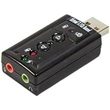 BlueBeach USB2.0 External alta calidad 3D 7.1 Channel Audio Sound Card Adapter - Plug and Play - Tarjeta de sonido de sustitución rápida y fácil Salida de audio y entrada de micrófono - Perfecto para auriculares de Skype Conexiones estereofónicas - Disfruta de la música estéreo de alta calidad y juegos de azar Botones de control - silenciar el micrófono y los altavoces y ajustar el volumen directamente Compatible con: Windows 7 / XP / Vista y MAC OS X - USB 1/2/3