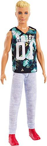 Barbie FXL63 - Ken Fashionistas Puppe im Sportoutfit mit blonden Haaren, Puppen Spielzeug ab 3 Jahren (Ken Puppe Barbie Fashionista)