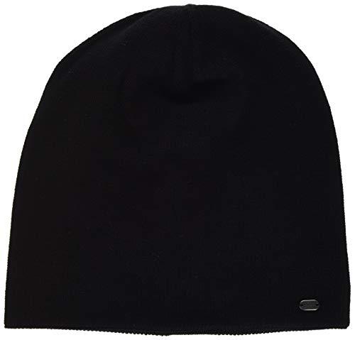 BOSS Herren Beanie-Cozy Strickmütze, Schwarz (Black 001), One Size (Herstellergröße: STÜCK)