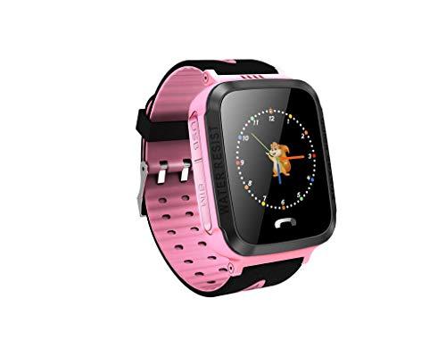 Smart Watch,Janly Y34 Anti verlorenes Kind GPS-Verfolger PAS Das intelligentes Telefon GPS Uhr Aufspürend in Position Bringt (Rosa)