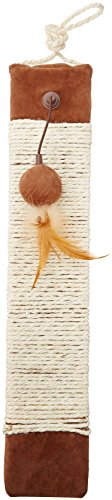 Petlinks Rope Around Sisal Wrapped Scratcher with Refillable Catnip Pocket and Toy 1