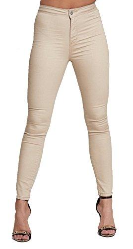 LILY LULU Apparel disco high waisted skinny jeans pants acid wash denim skinny jeans White Skinny Jeans Black ripped high waisted jeans PU leather jeans Test