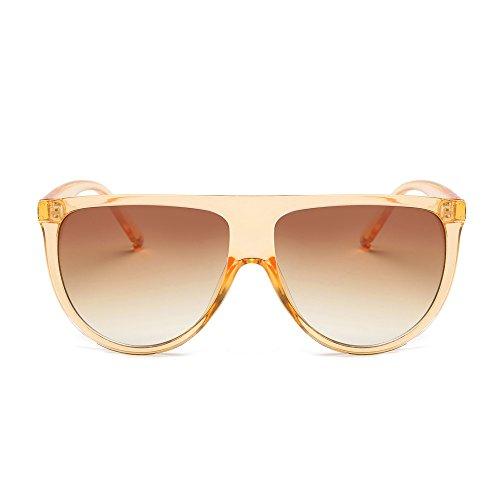 Damen Herren DAY.LIN Mode Unisex Vintage Shaded Objektiv dünne Brille Mode Flieger Sonnenbrille (I) (Runde Kostüme)