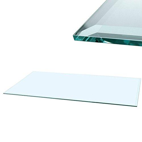 Euro Tische Glasscheibe Glasplatte Klarglas Rechteck 80 x 60 cm Glas für Tisch Tischplatte...