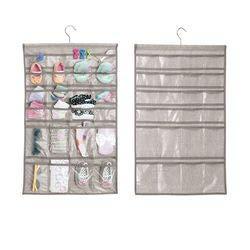 mDesign 2er-Set hängender Stoffschrank – perfekt als Baby Organizer – der ideale Hängeschrank...