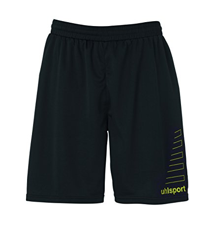 uhlsport Herren Match Team Kit (Shirt&Shorts) Ss limonengelb/schwarz