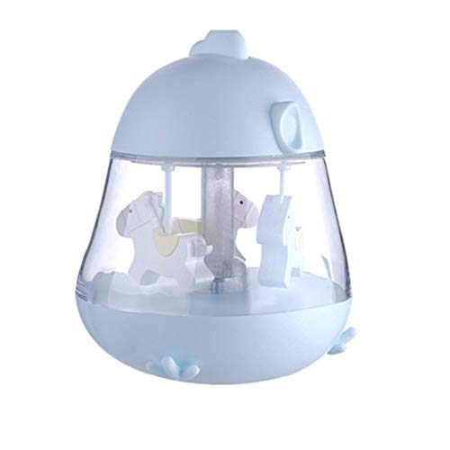 y Night Light, Carousel Music Box Rotate mit USB Charge Port & Touch Switch, LED Light Color Changing Musical Toys for Kids Girls Birthday Hochzeit,Blue ()