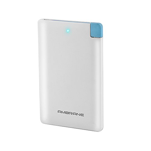 Ambrane Plush PP-25 2500mAh Polymer Power Bank (White)  available at amazon for Rs.399