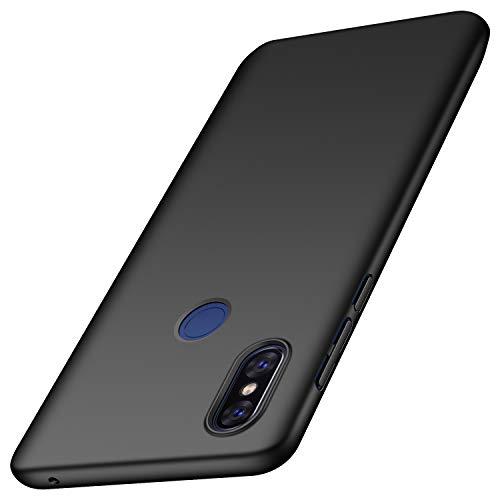 anccer Serie Matte für Xiaomi Mi Mix 3 Hülle, Elastische Schockabsorption & Ultra Thin Design (Glattes Schwarzes)