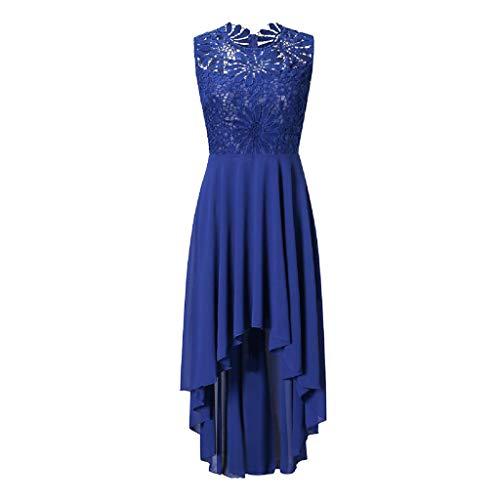Wawer Kleid Damen O-Ausschnitt Partykleid Bodycon Freizeitkleid Groß Größe Midikleid Spitze Abendkleid Boho Cocktailkleid