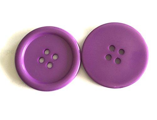 Bastel Express Lot de 15 Boutons en Plastique Acrylique Violet 22 mm