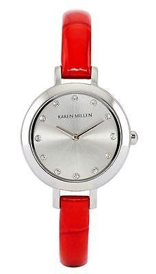 Karen Millen Ladies KMA101R Red Strap Designer Watch