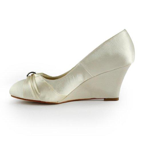 Jia Jia Wedding 121753 chaussures de mariée mariage Escarpins pour femme Beige