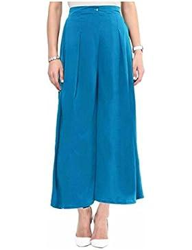 Indian Handicrfats Export Uptownie Lite Regular Fit Women's Blue Trousers