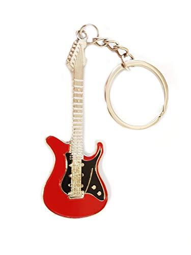 Gitarre Rock E Gitarre Musik Bass Schlüsselanhänger schwarz rot