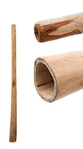 Didgeridoo aus Teakholz naturbelassen geölt Länge 100cm für Kinder & Anfänger geeignet vergleichbar mit Eukalyptus aber preiswerter klarer Ton Rissstabilität Weltmusik Aborigines Percussion