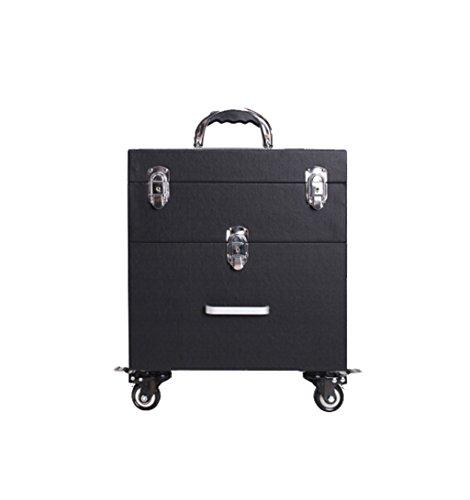 ZBBZ-BAG Coffrets de voyage cosmétiques Boîte de cosmétiques Grand format professionnel de mode, Maquillage de valise Maquillage Boîte de beauté Boîte à outils de polonais à ongles (style : # 3)