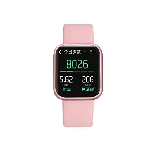 QINYONGFENG Full-Touchscreen-IP68 wasserdicht Smart Watch for Apple Herzfrequenzüberwachung Frauen Männer Smartwatch (Color : Pink)