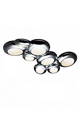 Aura Pendelleuchte (Sompex LED Pendelleuchte Aura 08S | LEDs fest verbaut 113W 7345lm warmweiß | 94275)
