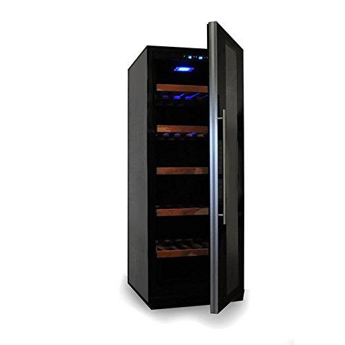 Klarstein Weinkühlschrank Weinkühler Getränke-Kühlschrank (freistehend, Glastür, 450 Liter, LED-Licht, Touch-Bedienung) schwarz