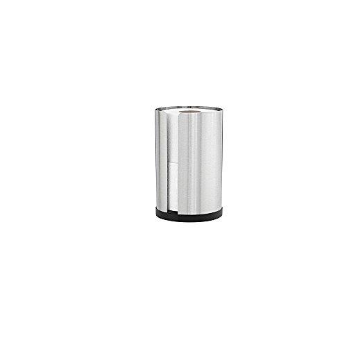 Blomus Nexio WC Rollenhalter Für 2 Rollen, Silber Matt H: 22cm Ø 13,5cm