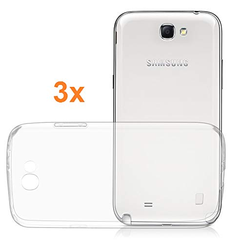 [Lot de 3] Coque pour Samsung Galaxy Note 2, TPU Transparent en Silicone, Ultra Fine 0.33mm, Électronique Roi®