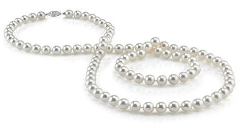 The Pearl Source Damen-Halskette mit Anhänger 18 Kt Gold Südseeperle Diamant (Südseeperlen & Diamant-armband)