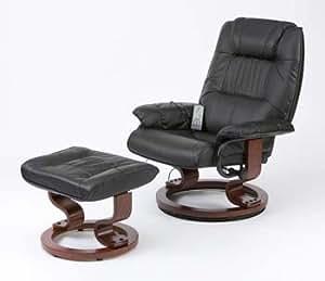 leder elektrische massage liege stuhl mit fu hocker beige k che haushalt. Black Bedroom Furniture Sets. Home Design Ideas
