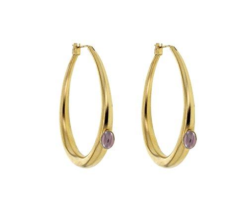 Ela-Jenny-Pierre anneaux en laiton violet