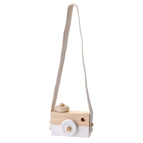 Lalang Niedliche Baby Kinder Holz Kamera Spielzeug Kindermode Bekleidung Accessory Zubehör,als Beste Geburtstagsgeschenk für Baby (Weiß) (Baby-kamera-spielzeug)
