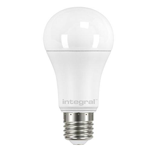Integral ILAE27O14D27KBKMA Ampoule E27 Dimmable 1521Lm 13.5W équ. à 100W 2700k 150° Opale/Dépolie, Aluminium, 13 W, Blanc