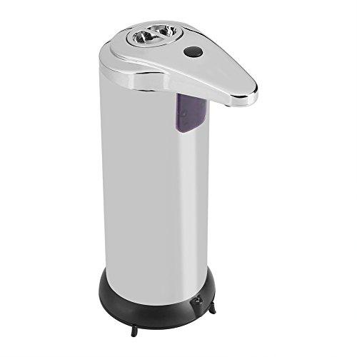 Automatischer Seifenspender, Bad Seifenspender, Touchless Edelstahl Seife Liquid Sanitizer Dispenser, Flüssige Freisprecheinrichtung Auto Hand Seifenspender, Verbesserte Wasserdichte Basis (Auto-hand Sanitizer-spender)