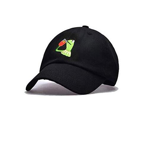 KAIMAO Baseballmütze Frosch-Tee-Hysterese Nichts Von Meinem Geschäft Papa-Hut Big Daddy-Hut Männer Frauen Mädchen Baseballmütze Schwarz Big Daddy Hut