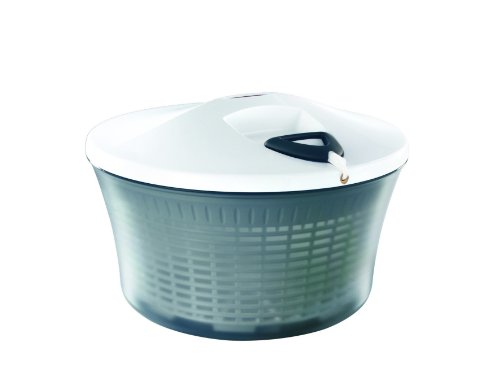 Leifheit Drawstring Large Salad Spinner, White