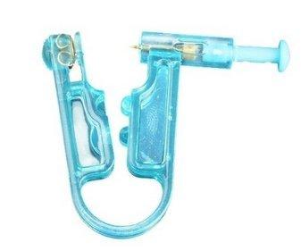 Leayao Einweg-Ohr-Pistole, steril, schmerzfrei, manuell, Blau, 2 Stück -