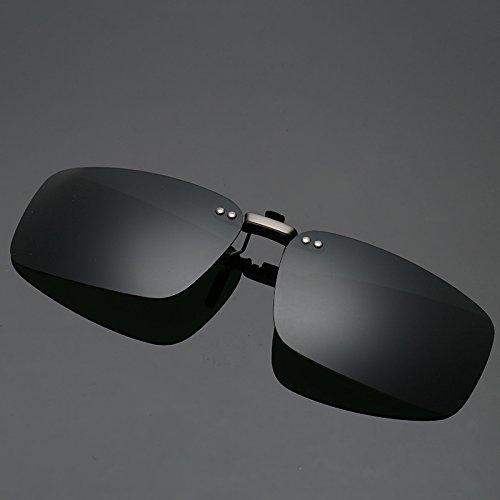 Ruiyue Clip-on Sonnenbrille, Outdoor-Fahren Angeln Radfahren Vision Objektiv Anti-UVA Anti-UV-Sonnenbrille polarisierte Clip für Männer Frauen (Color : Deep Green)