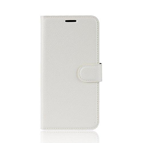 """HERCN Oppo RX17 PRO 6.4"""" Custodia, Premium Slim Flip Case Custodia Portafoglio in PU Pelle con Porta Carte,Funzione Stand,Chiusura Magnetica per Oppo RX17 PRO Smartphone (Bianco)"""