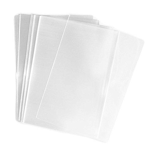 eshowy 200PCS Klar flach Cello/Cellophan behandeln Tasche Geschenk Korb, Arztausstattung, 15,2x 20,3cm (1.2mil) (Party Supplies Insekten)