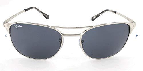 RAYBAN JUNIOR Herren Sonnenbrille Signet, Shiny Silver/Grey/Blue, 55