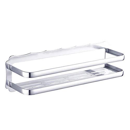 ERCZYO Bad Regal Dusche Veranstalter Wand Handtuchhalter Punch Freiraum Aluminium Rechteck Ablaufzaun Toilette 1 Tier (Größe: 50x12,5x14cm) (Größe : 50x12.5x14cm) -