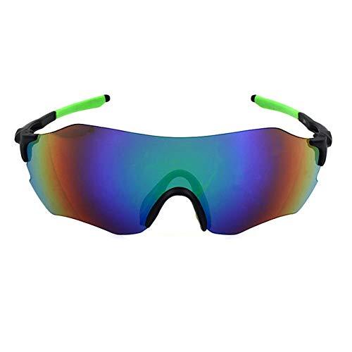 CHIRORO Polarisierte Sport Sonnenbrille Fahrradbrille Radbrille Sportbrille Herren Damen für Radfahren Laufen Fahren Angeln Golf Baseball Brillen,Grün