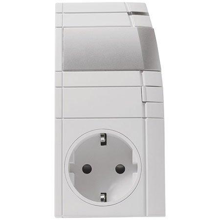 Homematic Funk-Dimmaktor Zwischenstecker, Phasenanschnitt HM-LC-Dim1L-Pl-3 für Smart Home / Hausautomation