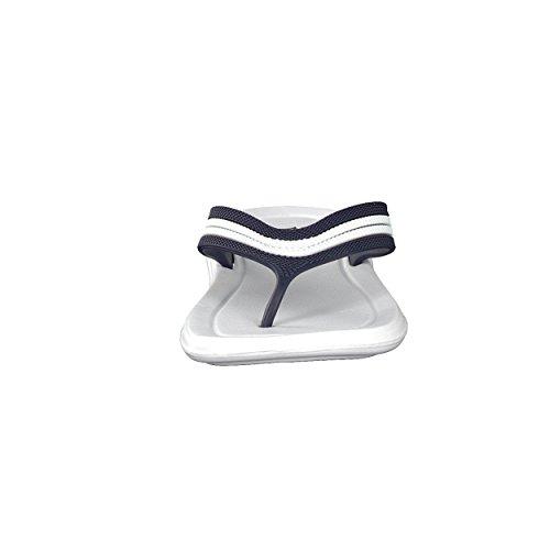 brandsseller, Ciabatte da spiaggia uomo Bianco/navy