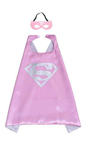 Mr Gadget Solutions® Premium Qualität Super Maske und Umhang Kostüm Set für Kinder (Super Girl)