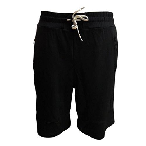 ASHOP Sweatpant für Herren, Jogginghose Freizeithose Boxen Kurze Hose aus hochwertiger Baumwollmischung (XXL, Schwarz)