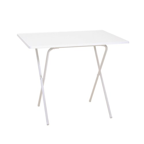 Mesa plegable (60 x 80 x 63 cm), color blanco