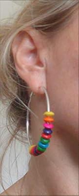? 5,5 cm de large couleur BOHO CREOLS ? Boucles d'oreilles en multicolore