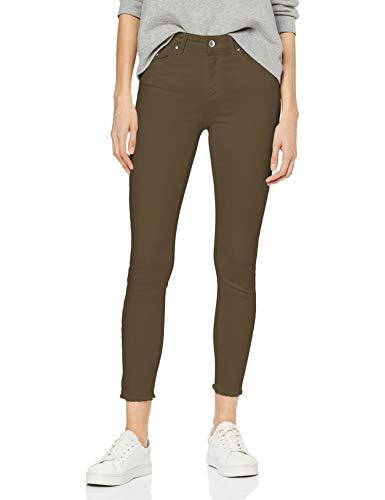 ONLY NOS Damen onlBLUSH MID SK ANK RAW COLOUR JEA NOOS Skinny Jeans Grün (Kalamata), 36/L32 (Herstellergröße: S)