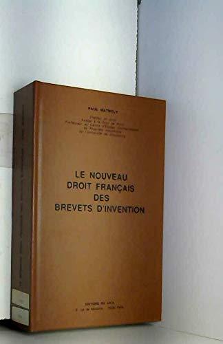 Le nouveau droit français des brevets d'invention